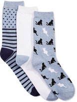 Charter Club Women's 3-Pk. Cats Socks, Only at Macy's