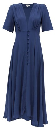Gioia Bini Carolina Short-sleeved Cady Dress - Womens - Blue