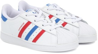 Adidas Originals Kids Superstar leather sneakers