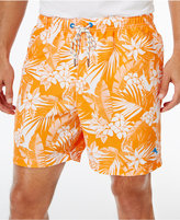 Tommy Bahama Men's Naples Plumeria Paradise Drawstring Sun Protection 50 Swim Trunks