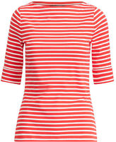 Ralph Lauren Petite Striped Stretch Cotton Tee