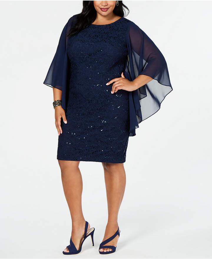 Plus Size Navy Lace Dress - ShopStyle