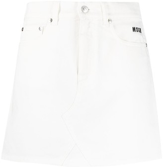 MSGM Logo-Embroidered Mini Skirt