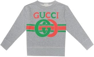 Gucci Kids Logo cotton-jersey sweatshirt