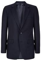 Aquascutum Hopsack Clothier Finish Suit Jacket, Navy