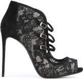 Le Silla lace buckle pumps - women - Leather/Suede/Polyester - 36
