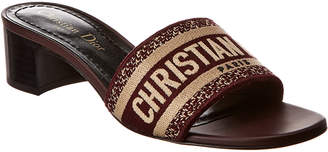 Christian Dior Dway Embroidered Leather Sandal