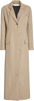 LA COLLECTION Modesty Crepe Wool Blazer Dress