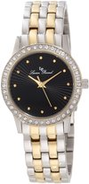 Lucien Piccard Women's 11696-SG-11 Monte Velan Textured Dial Two Tone Stainless Steel Watch