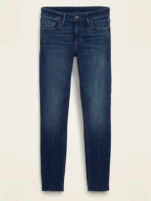 Old Navy Mid-Rise Center-Seam Rockstar Super Skinny Cut-Off Ankle Jeans for Women