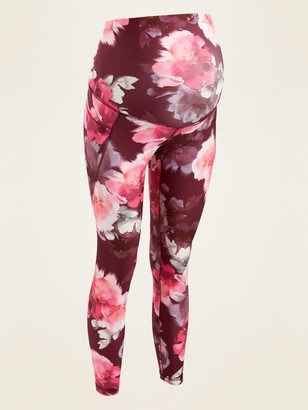 Old Navy Maternity Full-Panel Elevate Powersoft Side-Pocket 7/8-Length Leggings