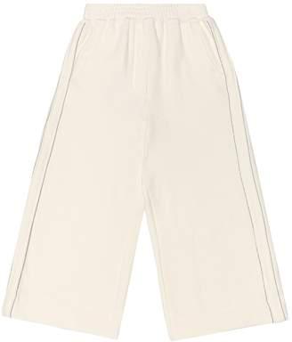 Brunello Cucinelli Kids Embellished cotton-blend trackpants