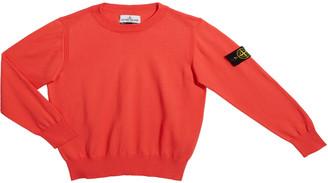 Stone Island Boy's Crewneck Sweater with Logo Arm Tab, Size 10-12