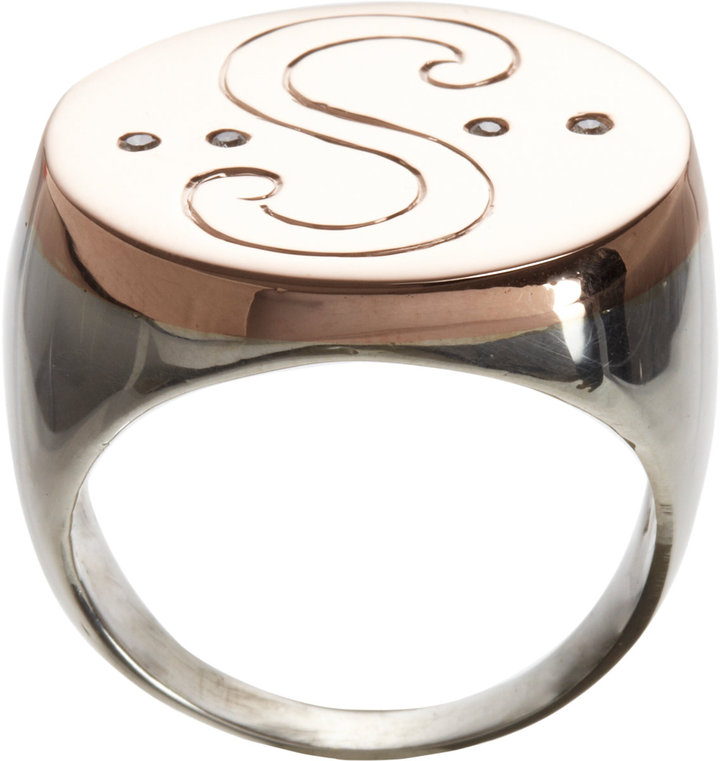 Loren Stewart Rose Gold & Silver Satya Ring