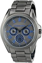Vince Camuto Women's VC/5187BLGY Swarovski Crystal Accented Blue and Gunmetal Multi-Function Bracelet Watch