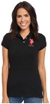 U.S. Polo Assn. Neon Logos Short Sleeve Polo Shirt