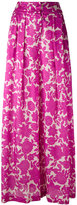Christian Wijnants floral-print wide-leg trousers - women - Silk - 34