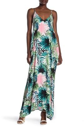 Love Stitch Tropical Palm Sleeveless Maxi Dress