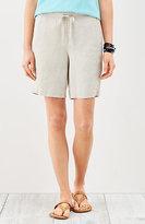 J. Jill Linen Drawstring-Waist Shorts