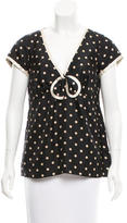 Marc Jacobs Silk Polka Dot Top