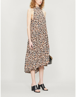 Camilla And Marc Willow graphic-print cotton and silk-blend midi dress
