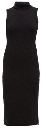 Mara Hoffman Rory High-neck Cotton-blend Boucle Midi Dress - Womens - Black