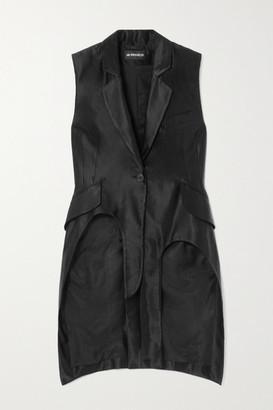 Ann Demeulemeester Asymmetric Linen-blend Satin Vest