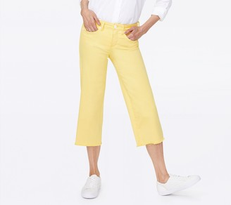 NYDJ Wide Leg Capri Fray Hem Jeans - Sunshine
