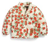 Mini Rodini Toddler Girl's Rose Print Water Resistant Puffer Jacket