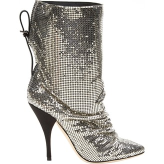Marco De Vincenzo Silver Glitter Boots