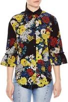 Sandro Brazil Printed Silk Shirt