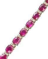 Effy Gemma by Ruby (12 ct. t.w.) and Diamond (1/4 ct. t.w.) Tennis Bracelet in 14k Gold
