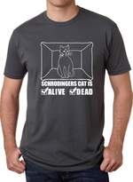 Crazy Dog T-shirts Crazy Dog Tshirts Schrodinger's Cat is Both Dead And Aive T-Shirt Funny Tee for Physicists
