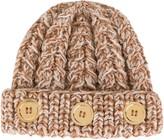 0711 Button-Detail Knit Beanie