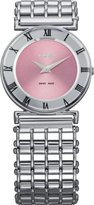 Jowissa Women's J2.017.M Roma Pastell Stainless Steel Pink Dial Roman Numeral Watch