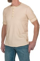 Jeremiah Cotton Jersey Henley Shirt - Short Sleeve (For Men)