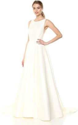 Jenny Yoo Women's Ashton Plunging Back A-Line Taffeta Gown