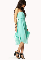 Forever 21 Bow Belt Tube Dress