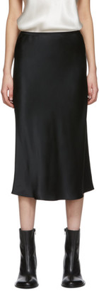 Joseph Black Silk Satin Isaak Skirt