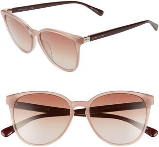 Longchamp Le Pliage 53mm Gradient Cat Eye Sunglasses