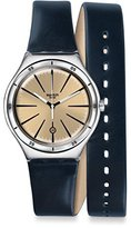 Swatch Women's YWS408 Analog Display Swiss Quartz Blue Watch
