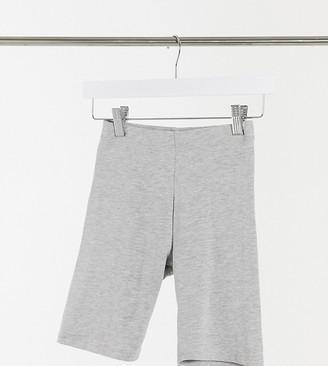 ASOS DESIGN Petite cotton legging short in grey marl