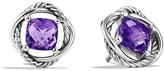 David Yurman Infinity Earrings with Amethyst