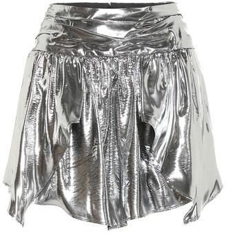 Isabel Marant Kira metallic silk-blend shorts