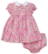 Little Me Two-Piece Liberty Garden Beauty Smocked Cotton Dress and Panty Set