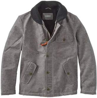 L.L. Bean L.L.Bean Signature Sherpa-Lined Waxed Cotton Jacket, Slim Fit