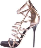 Paul Andrew Metallic Cage Sandals