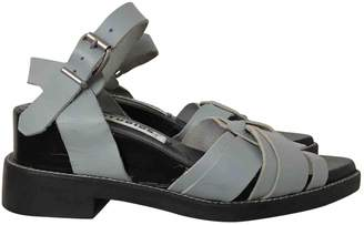 Acne Studios Blue Leather Sandals