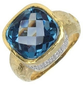 Torrini Stefy - Topaz and Diamonds Yellow Gold Ring