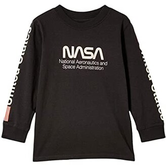 Cotton On Co Lab Long Sleeve Tee (Toddler/Little Kids/Big Kids) (License Nasa Phantom/Nasa) Boy's Clothing